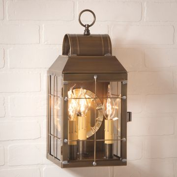 Colonial Br And Copper Outdoor Lighting Irvin S Tinware