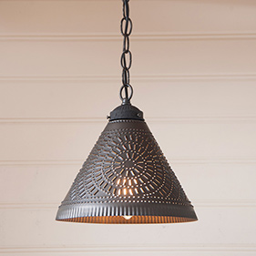 Country farmhouse lighting irvins tinware punched tin lighting mozeypictures Image collections