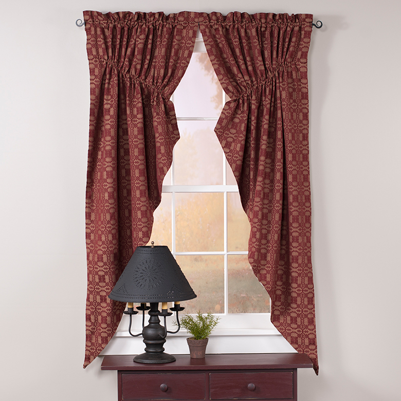 Primitive Country Curtains And Valances For Kitchens