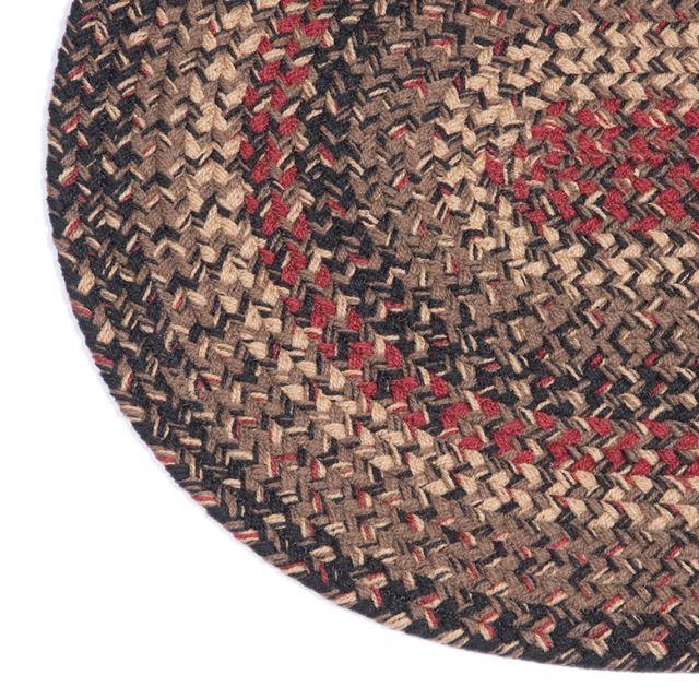 Irvin S Tinware Hearthside 3x5 Ft Oval Braided Rug