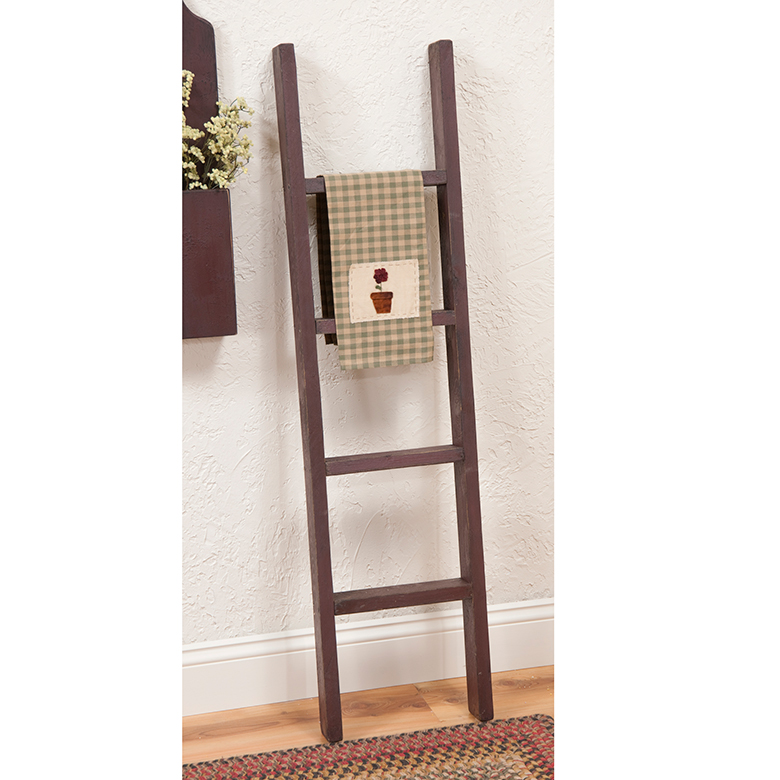 Red Wooden Decorative Ladder Irvin S Tinware