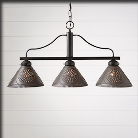 Vintage Country Farmhouse Kitchen Lighting Irvins Tinware