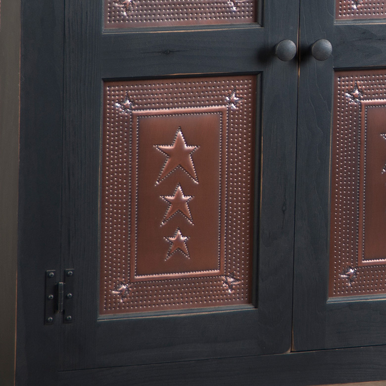 Irvin S Tinware Embossed Star Cabinet Panel Insert In