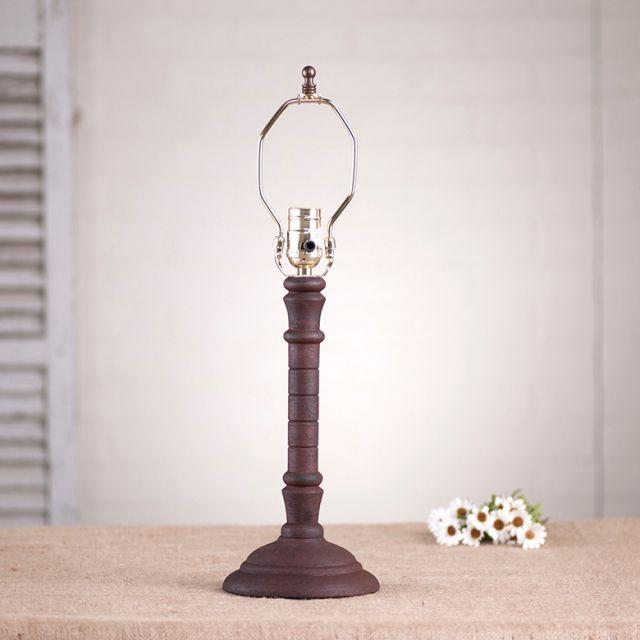 Irvin S Tinware Gatlin Wood Table Lamp Base In Hartford Red